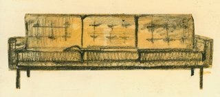 Introducing New Designs Inspired by a Century of Florence Knoll - Photo 1 of 9 - An early sketch of a sofa by Florence Knoll. Image from the Knoll Archive.