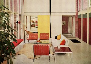Introducing New Designs Inspired by a Century of Florence Knoll - Photo 5 of 9 - Popular for her refined aesthetic, Florence Knoll's sofa designs quickly found favor in residential spaces. Image from the Knoll Archive.
