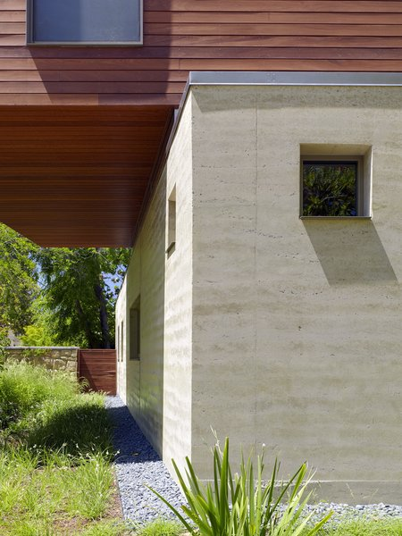 rammed earth facade Photo 12 of Palo Alto Residence modern home