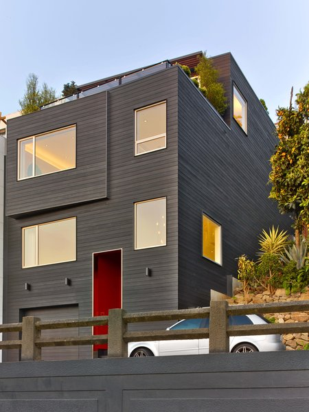 Modern home with outdoor and front yard. Exterior facade Photo  of Glen Park Residence