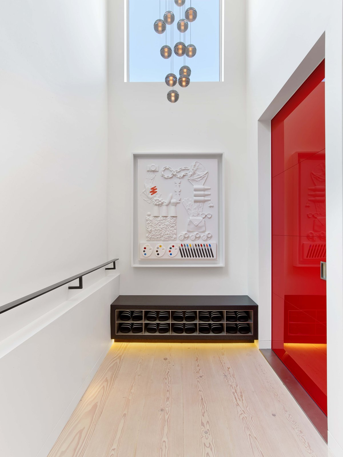 Entry Tagged: Hallway and Light Hardwood Floor.  Glen Park Residence by CCS Architecture