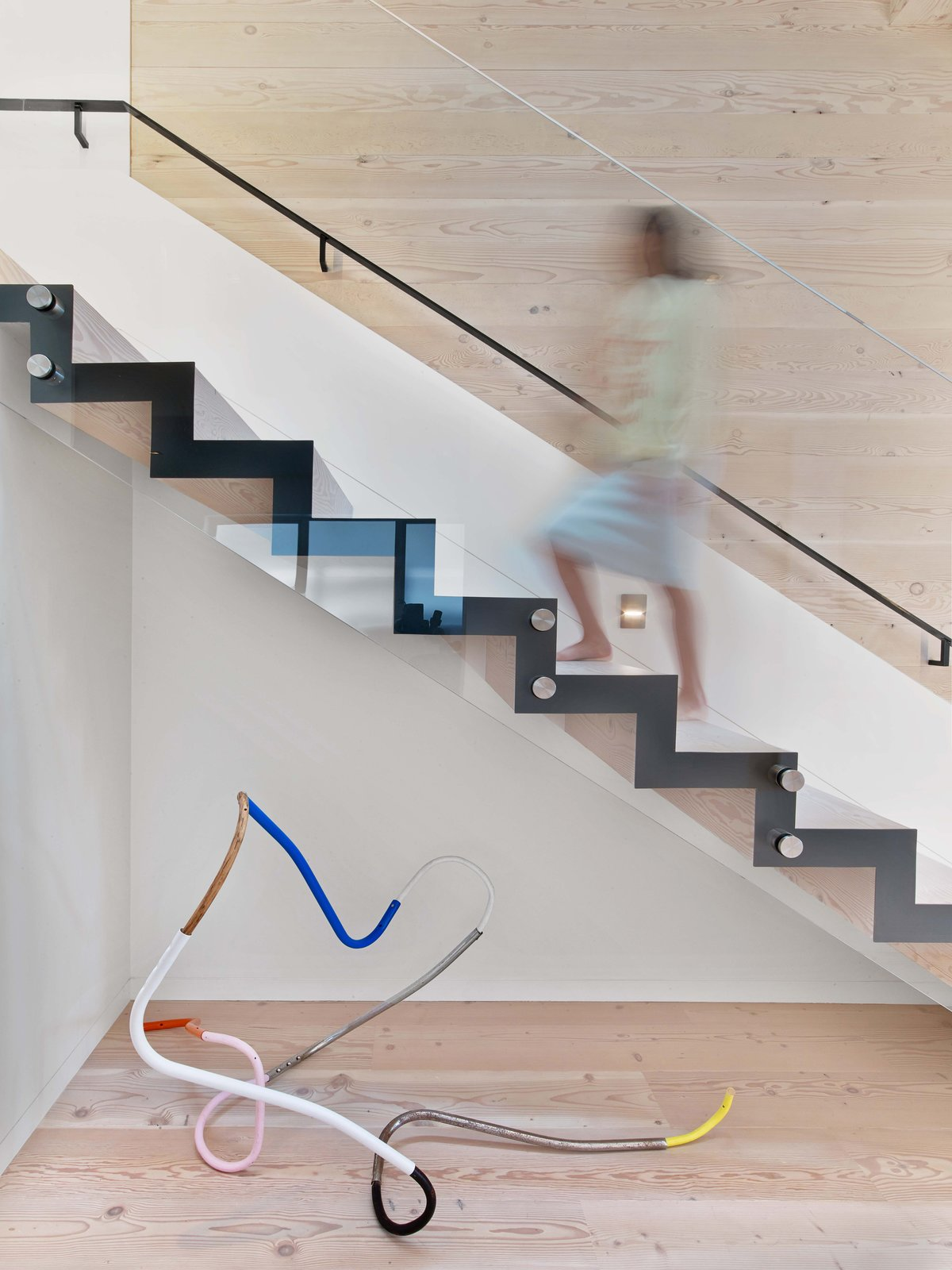 Tagged: Staircase, Metal Tread, and Metal Railing.  Glen Park Residence by CCS Architecture