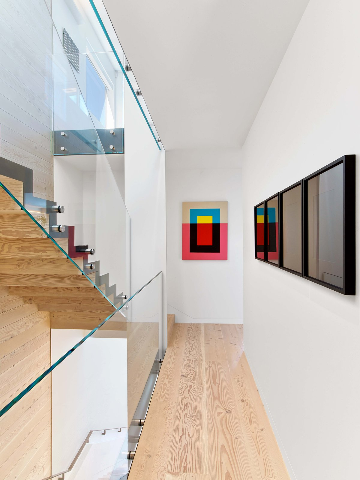 Tagged: Staircase, Wood Tread, and Glass Railing.  Glen Park Residence by CCS Architecture