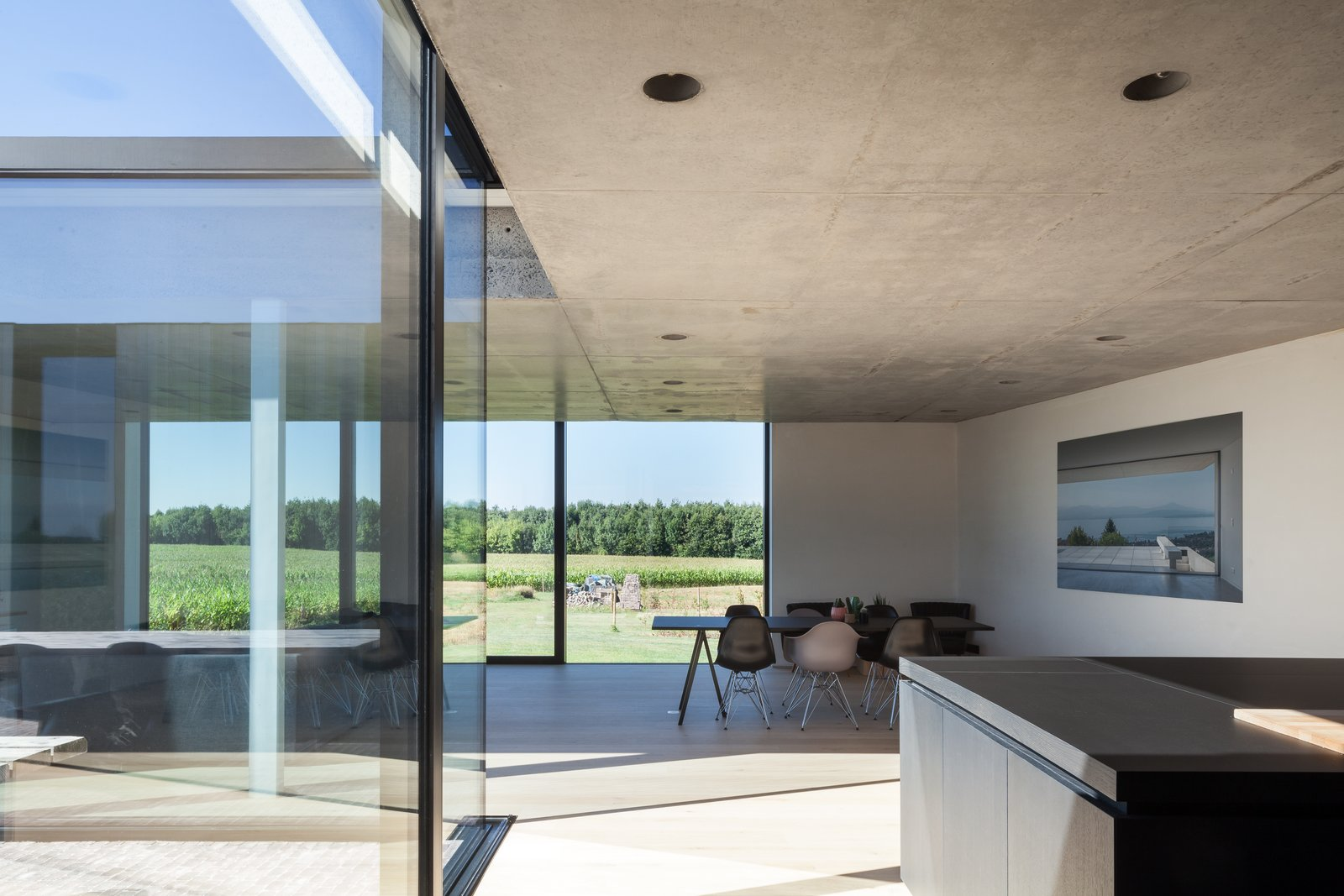 Photo 6 of 14 in Defying traditionalism: concrete bungalow inserted in a rural Belgian landscape