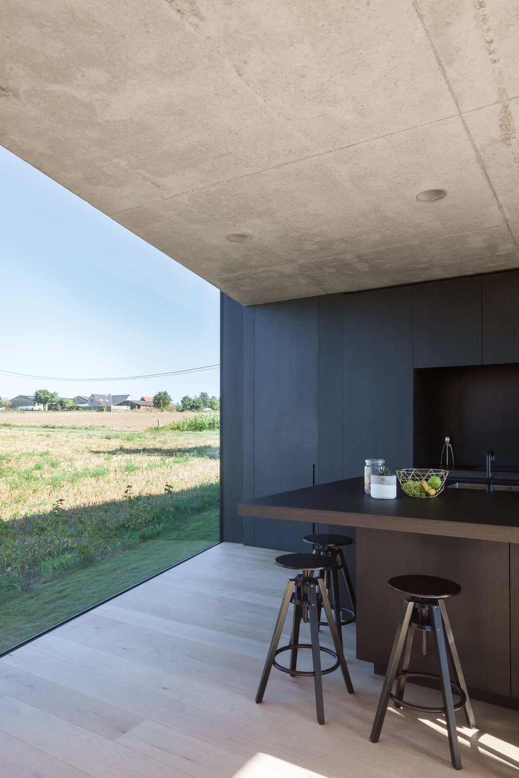 Photo 7 of 14 in Defying traditionalism: concrete bungalow inserted in a rural Belgian landscape