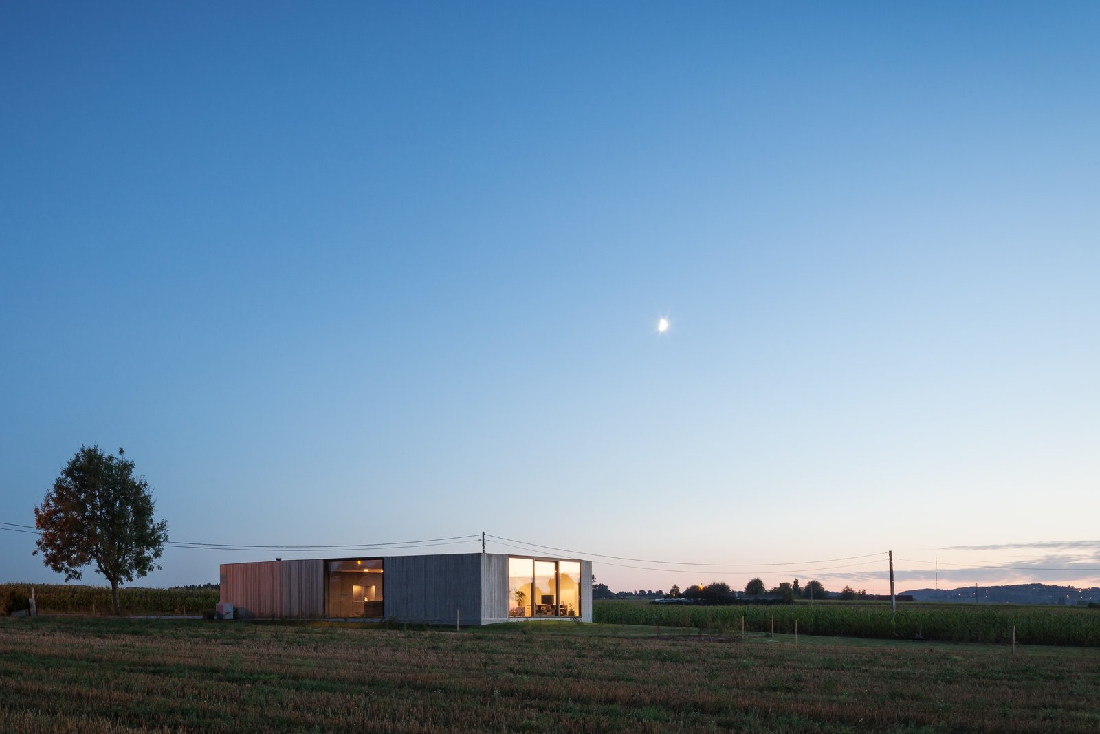 Photo 14 of 14 in Defying traditionalism: concrete bungalow inserted in a rural Belgian landscape