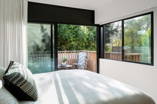 """The Woman Who Grew Up in This L.A. Home Returned to Give it a Stunning Renovation - Photo 8 of 11 - """"My bedroom is located in the same area of the property where my childhood bedroom was,"""" MacInnis says."""