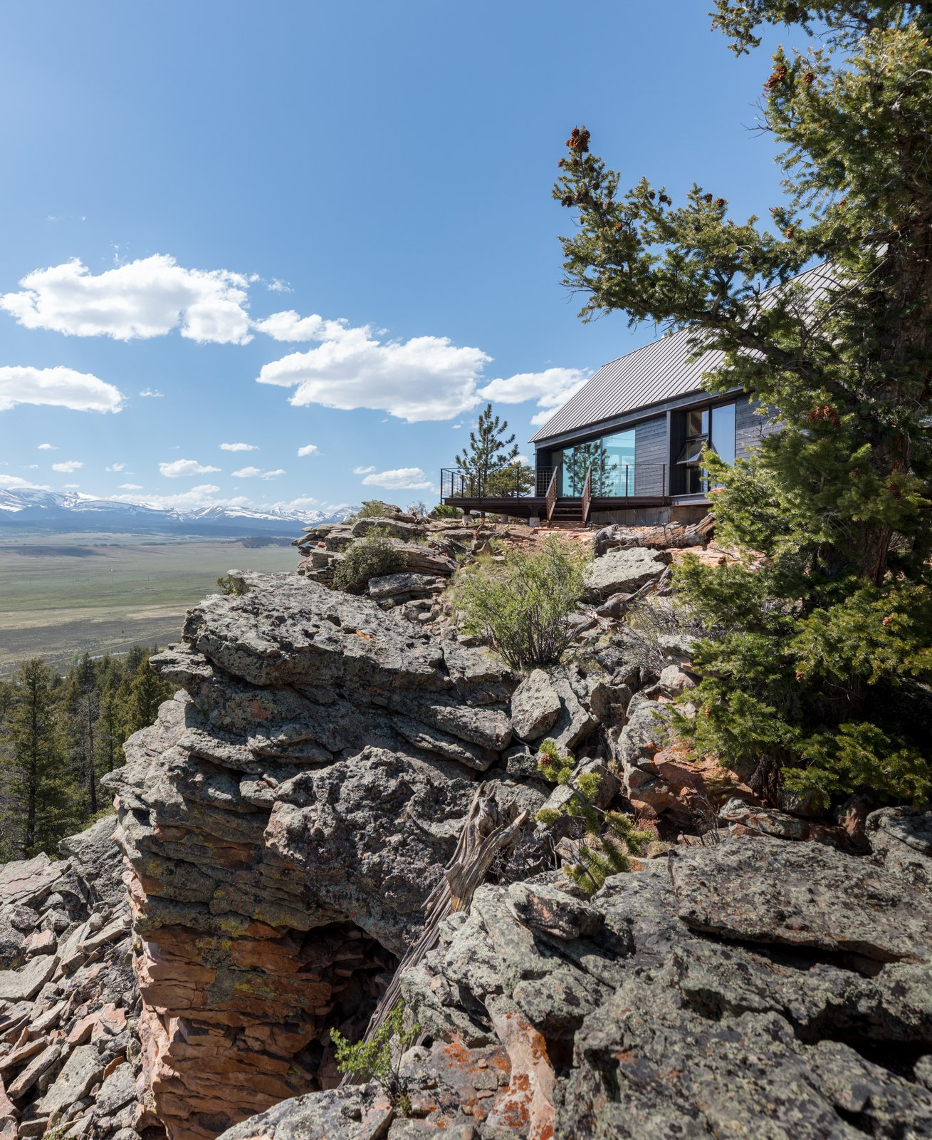 Tagged: Outdoor, Trees, and Boulders.  Big Cabin | Little Cabin by Renée del Gaudio Architecture