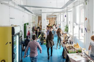 "These 6 Collaborative Coworking Spaces Will Give you Serious Office Envy - Photo 4 of 10 - The ""BetaCafe"" creates a fun space for gathering, and supports various community events like their ""Betapitch"" and startup job fairs."