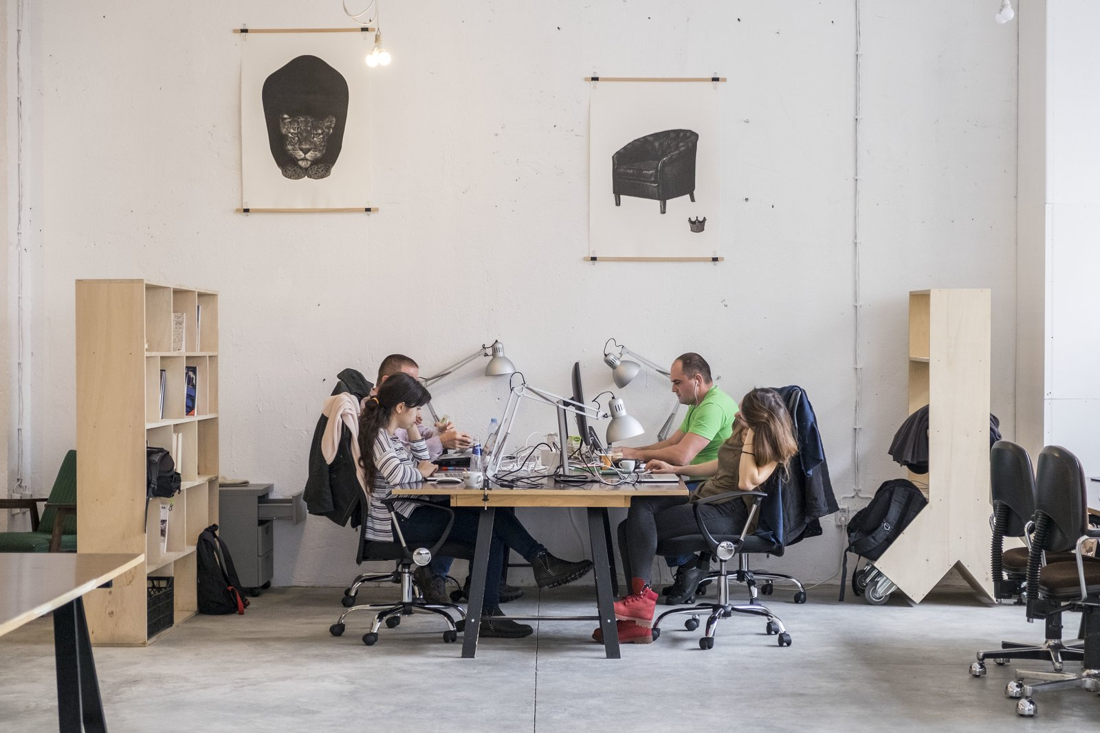 High ceilings and a ton of natural light make up Betahaus' winning recipe for a productive work environment.  Photo 6 of 11 in These 6 Collaborative Coworking Spaces Will Give you Serious Office Envy