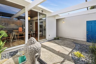 Check Out 2 Beautifully Renovated Eichlers For Sale in San Francisco - Photo 14 of 22 - The tranquil entry atrium welcomes guests into the home.