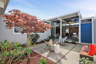Check Out 2 Beautifully Renovated Eichlers For Sale in San Francisco - Photo 21 of 22 - A landscaped central courtyard encourages indoor/outdoor living.