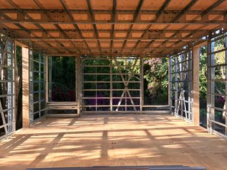 Dan Brunn Architecture and Dwell Break Ground on Bridge House in L.A. - Photo 4 of 6 - Openings are framed and ready for energy-efficient Western Windows.