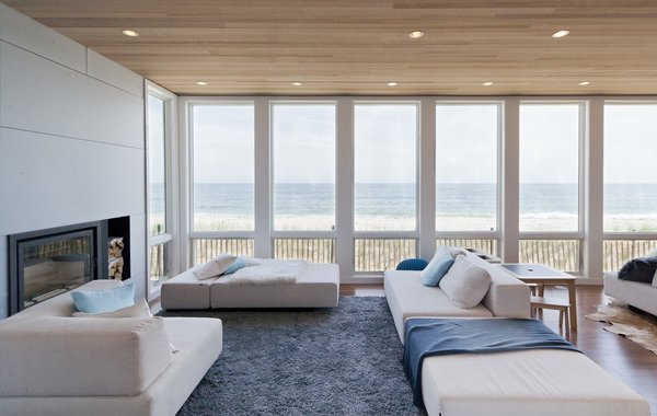 Living room and view of Atlantic Ocean upon entry