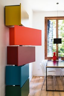 Making Room for Baby  (And You) - Photo 3 of 4 - The playful Giralot features storage modules that rotate open.