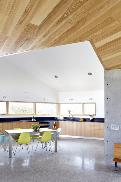 Modern home with kitchen, wood cabinet, and concrete floor. Photo 16 of Seagrape House