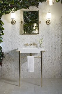 Mad About Marble: 20 Kitchens and Bathrooms - Photo 10 of 20 - KALLISTA, Laura Kirar Marble Console Table
