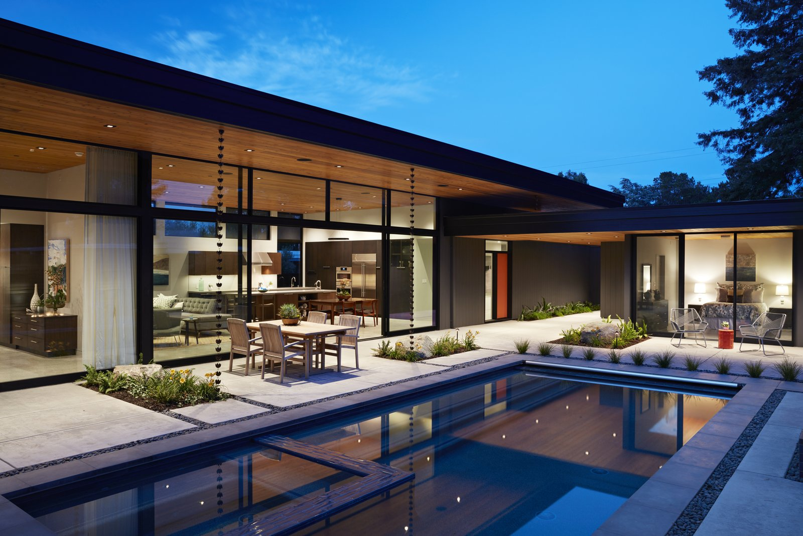 Tagged: Outdoor, Swimming Pools, Tubs, Shower, Large Pools, Tubs, Shower, Back Yard, and Concrete Patio, Porch, Deck.  Klopf Architecture by Klopf Architecture