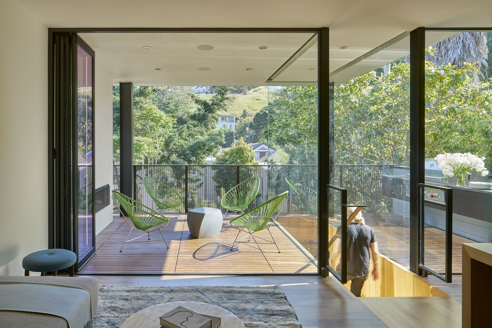 Tagged: Outdoor, Wood Patio, Porch, Deck, and Metal Fences, Wall.  29th Street Residence by Schwartz and Architecture