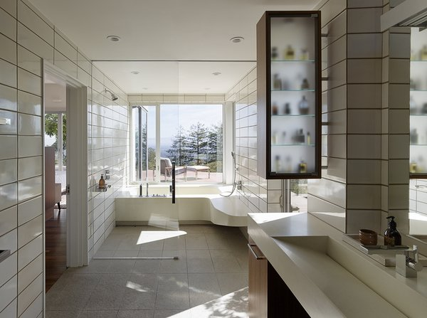 Modern home with bath room. Photo 15 of Shou Sugi Ban House