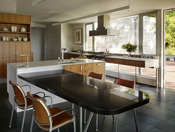 Modern home with kitchen. Photo 9 of Shou Sugi Ban House