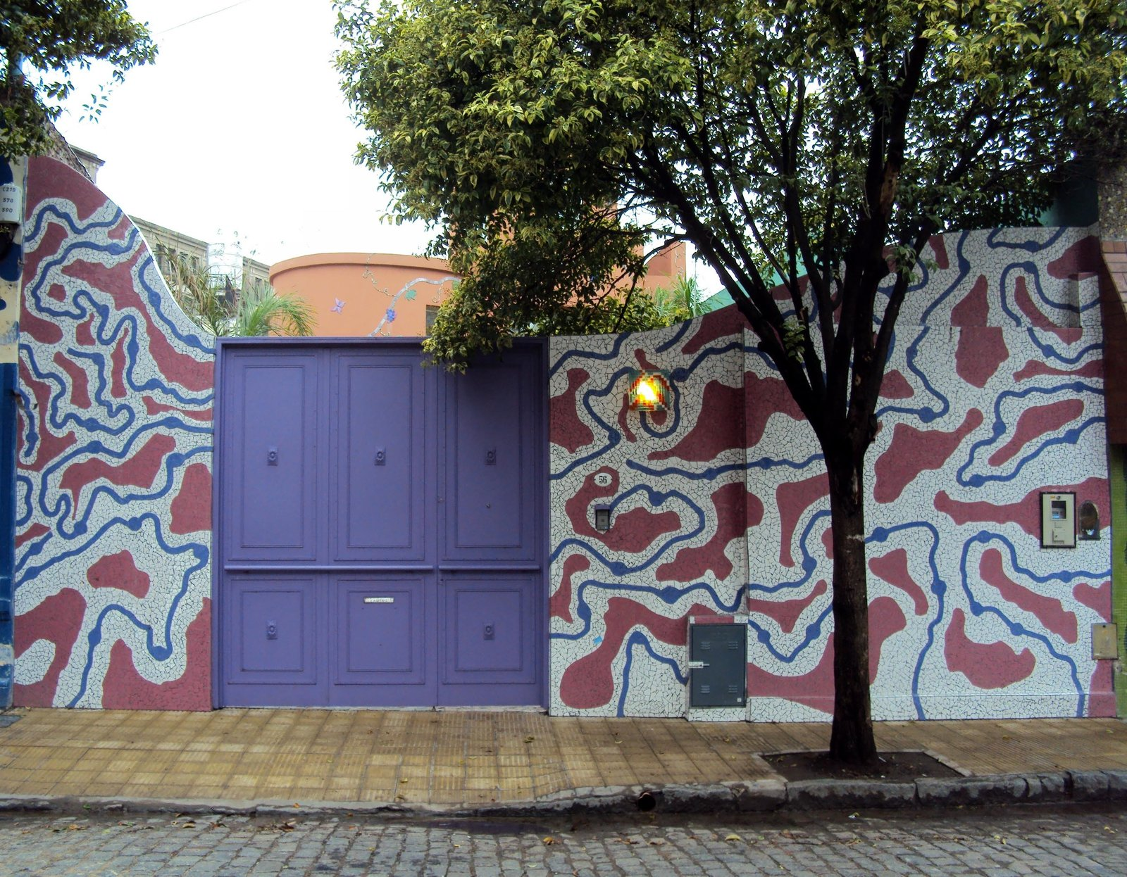Barracas has been recognized as Buenos Aires District of Design due to its concentration of creatives. Tagged: Exterior.  color by Molly E. Osler, Interior Design from Discover One of the Most Colorful Streets in Buenos Aires