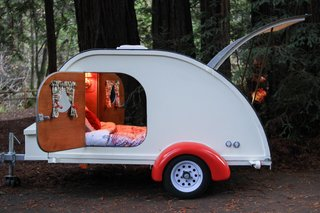 Stretch Your Travel Budget With These Cool Rentals—All Around $100 or Less - Photo 1 of 10 - With a sleeping area that is six feet long and four feet wide, this cozy teardrop can comfortably fit a couple, along with a small child.
