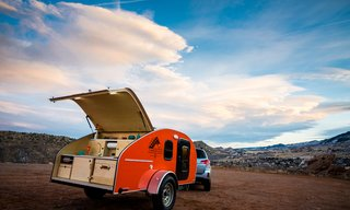 Get Your Glamp On in This Retro Teardrop Trailer - Photo 2 of 7 - The Timberleaf can be hauled by a Subaru Outback.