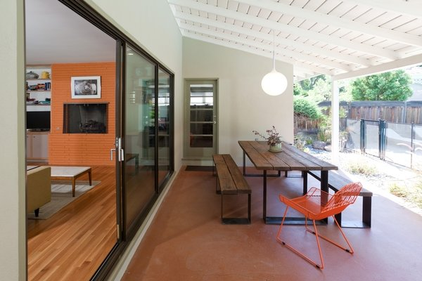 Modern home with table, back yard, and outdoor. Patio Photo 10 of Birchwood