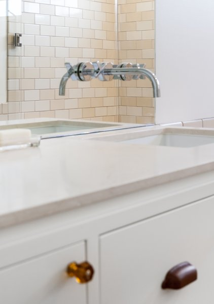 Modern home with ceramic tile wall, undermount sink, marble counter, and bath room. Master Photo 8 of 7th Avenue