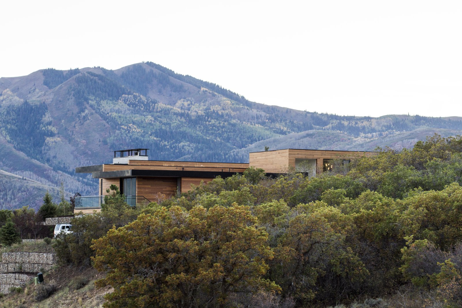 Tagged: Outdoor, Trees, Hardscapes, and Side Yard.  Park City Modern Residence by Sparano + Mooney Architecture