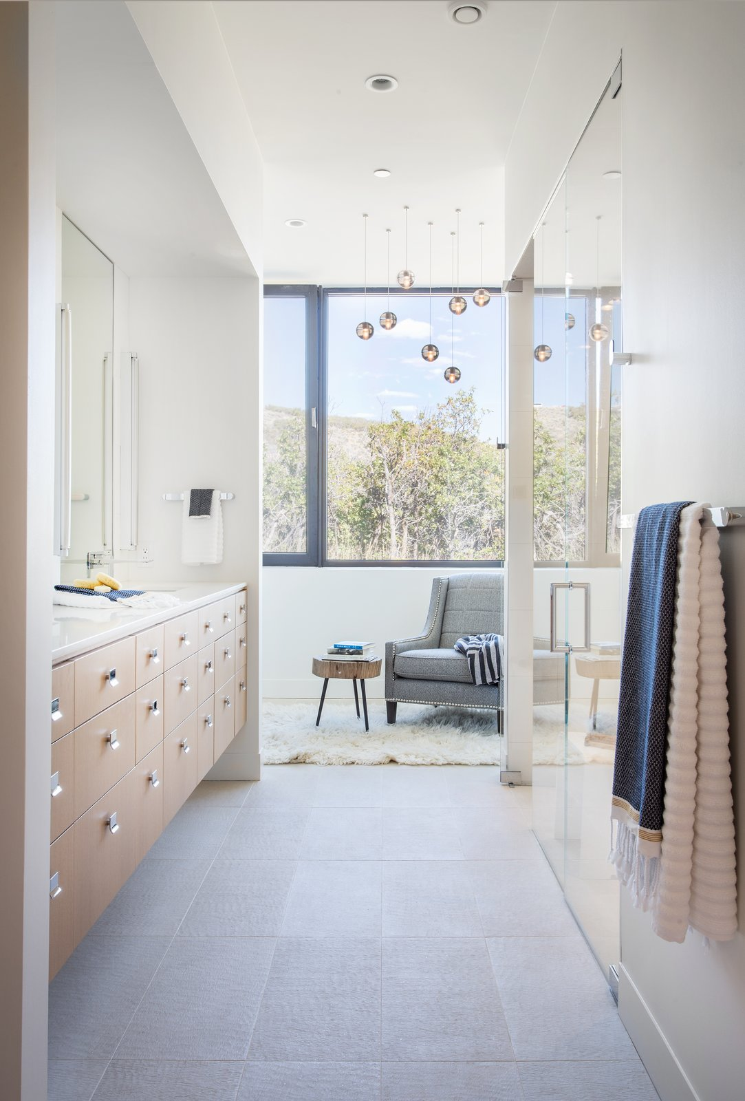 Tagged: Bath Room, Recessed Lighting, Undermount Sink, and Pendant Lighting.  Park City Modern Residence by Sparano + Mooney Architecture