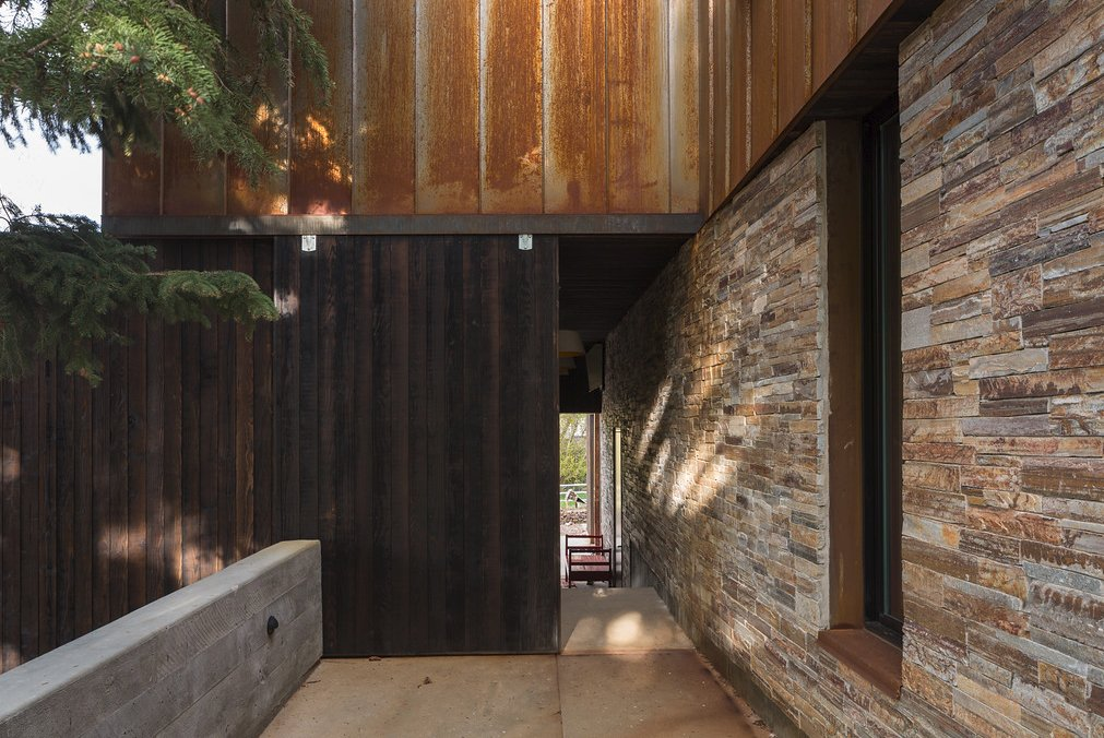 Tagged: Outdoor, Concrete, Metal, Stone, and Wood.  Best Outdoor Concrete Wood Photos from Thaynes Canyon Residence