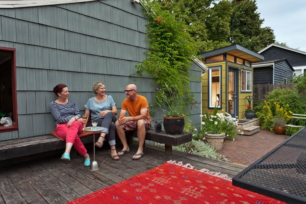 Photo 3 of Modern-Shed Stylish Portland Home Office modern home