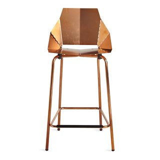Guide to Understanding Laser, Plasma, and Water-Jet Cutting in Design - Photo 5 of 10 - A copper-plated finish coats this counter stool by Blu Dot, which ships flat and folds along laser-cut lines to create a dynamic chair.