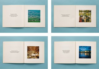 Spreads from Statement of Expectations, published in 1976, pair Grimshaw's photographs with each of Max's expectations, illustrating the execution of the brief.