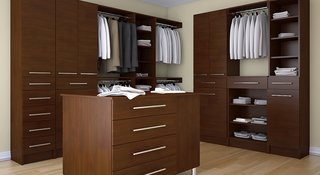 10 Modern Walk-In Closets - Photo 10 of 10 - This master walk-in closet would be the perfect addition to a bachelor pad.