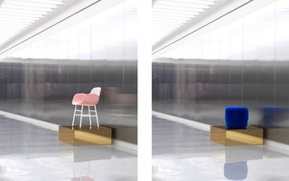 Normann Copenhagen's Revamped Showroom and Flagship Store - Photo 2 of 12 - On display in the Hall: the Form chair and Circus pouf.