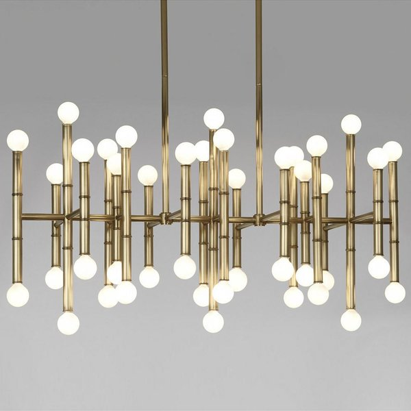 Robert Abbey Meurice Rectangular Chandelier
