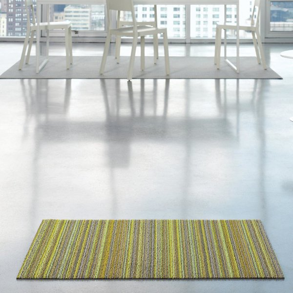 Skinny Stripe Shag Indoor/Outdoor Mat by Chilewich