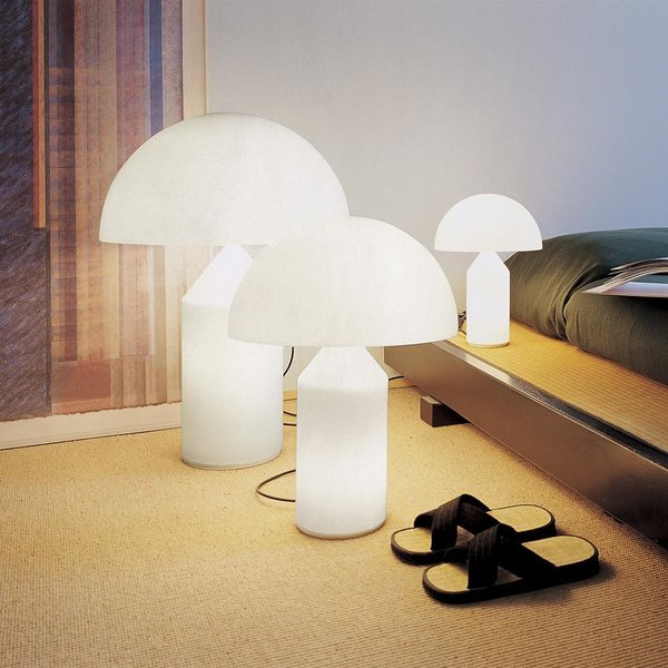 Atollo Glass Table Lamp by Oluce