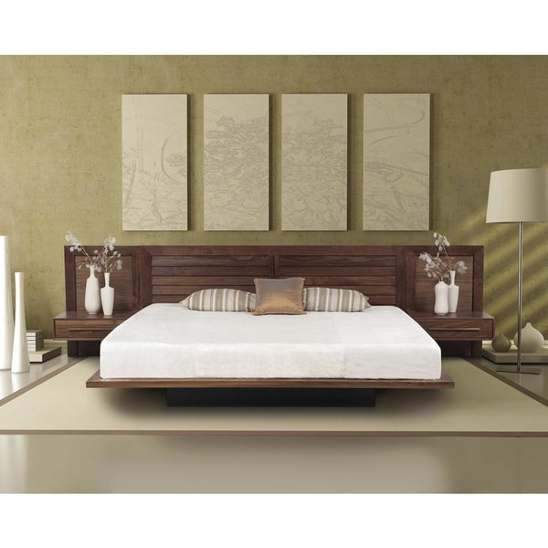 Moduluxe Bed with Louvered Headboard by Copeland Furniture