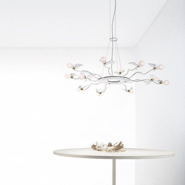 Birdie's Ring Chandelier by Ingo Maurer