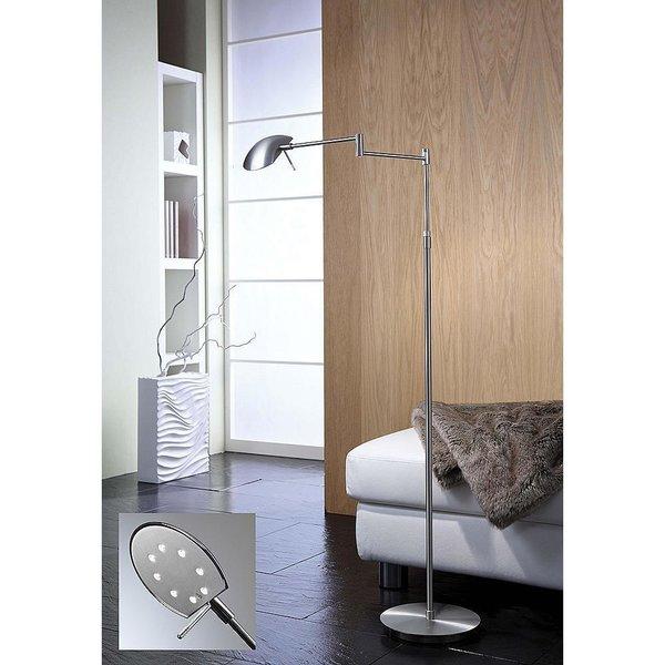 Bernie Turbo Series Swingarm Floor Lamp by Holtkoetter