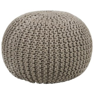 Contemporary Cotton Cord Pouf by Chandra