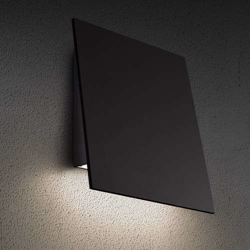 Angled Plane Downlight Outdoor LED Wall Sconce from SONNEMAN