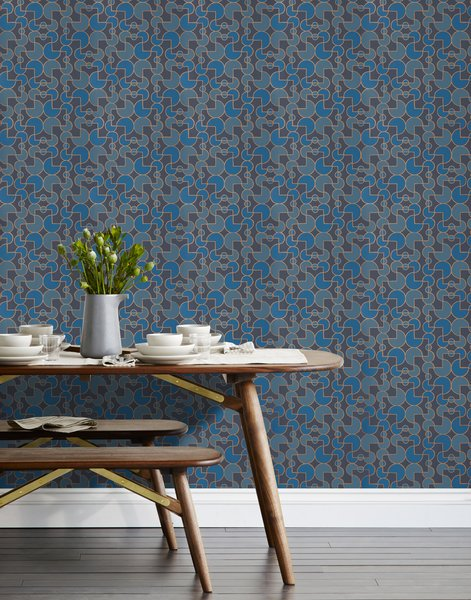 """We partnered with Hygge & West to produce a collection of modern artisan wallpaper that's screenprinted by hand in Chicago, IL. Heath designed wallpaper that combines a clean graphical style with hand-drawn lines in a palette inspired by our glazes in four patterns in four colorways: Arcade, Quilt, Slice, and Strike.brbrShop the collection here:  http://www.heathceramics.com/wallpaper brbr#heath<span> <a href=""""/discover/heathceramics"""" target=""""_blank"""">#heathceramics</a></span><span> <a href=""""/discover/heathxhyggeandwest"""" target=""""_blank"""">#heathxhyggeandwest</a></span><span> <a href=""""/discover/wallpaper"""" target=""""_blank"""">#wallpaper</a></span><span> <a href=""""/discover/color"""" target=""""_blank"""">#color</a></span><span> <a href=""""/discover/handdrawnlines"""" target=""""_blank"""">#handdrawnlines</a></span><span> <a href=""""/discover/navy"""" target=""""_blank"""">#navy</a></span><span> <a href=""""/discover/arcade"""" target=""""_blank"""">#arcade</a></span>"""