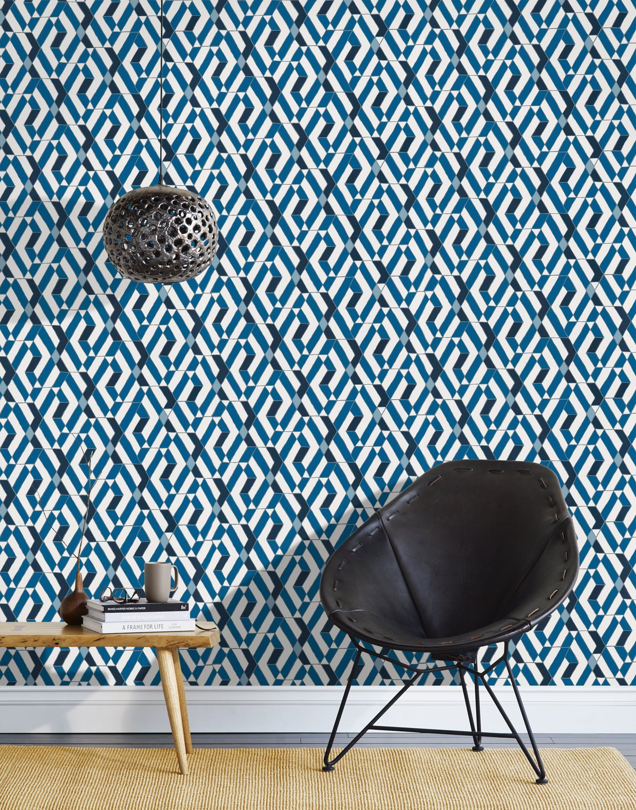 We partnered with Hygge & West to produce a collection of modern artisan wallpaper that's screenprinted by hand in Chicago, IL. Heath designed wallpaper that combines a clean graphical style with hand-drawn lines in a palette inspired by our glazes in four patterns in four colorways: Arcade, Quilt, Slice, and Strike.  Shop the collection here: http://www.heathceramics.com/wallpaper   #heath #heathceramics #heathxhyggeandwest #wallpaper #color #handdrawnlines #blue #quilt  Photo 33 of 42 in Wallpaper That Fixes Walls