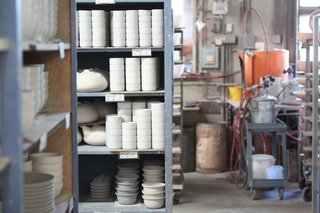 Sausalito Dinnerware Factory Tour - Photo 21 of 35 - Ready to be glazed and fired, when needed.