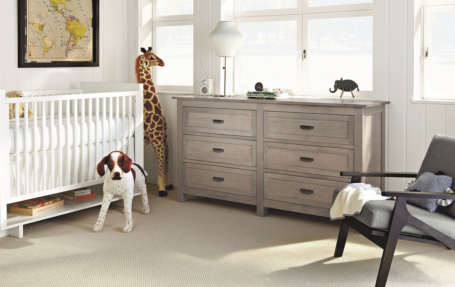 The Bennett bedroom furniture collection is based on a 19th-century French cabinet we discovered in an antique shop. Featuring quality craftsmanship by Pennsylvania woodworkers, Bennett is an updated twist on a classic design and is built to last.  #madeinamerica #furniture #nursery   Photo 8 of 20 in 20 Cool Cribs for the Modern Baby from Modern Kids & Nursery Furniture